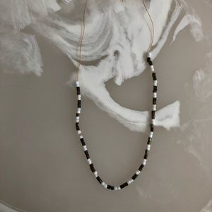 Jewelry - Blacks and White Beaded Necklace